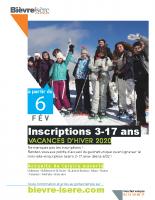 Affiche inscription vacances hiver 2020